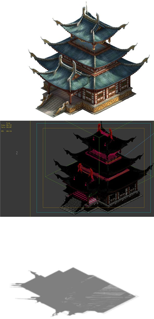 Game Model - Taoist comprehension scene - tower temple 01 - 3DOcean Item for Sale