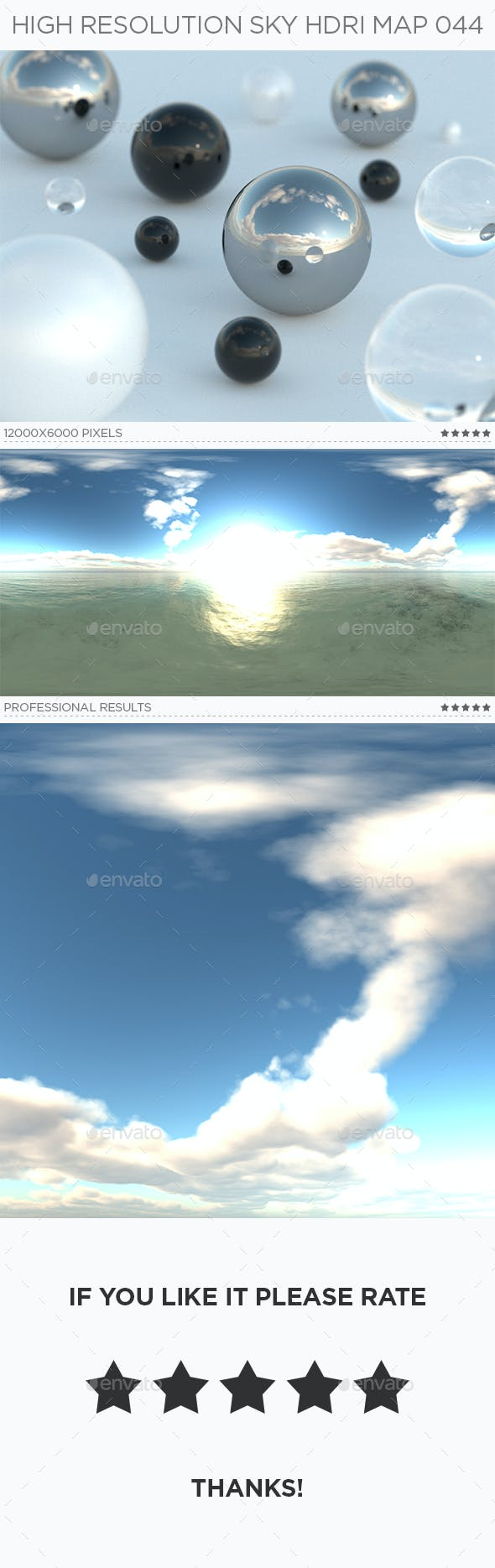 High Resolution Sky HDRi Map 044 - 3DOcean Item for Sale