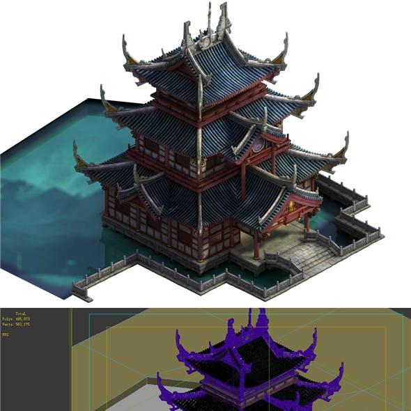 Game Model - Taoist comprehension scene - Zhenwu Temple 01