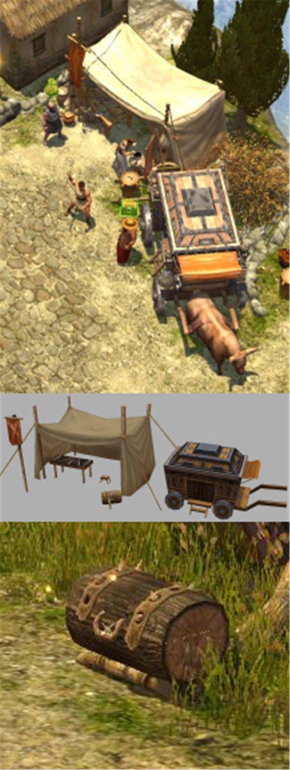 Game Model Arena - arms peddler car 01 - 3DOcean Item for Sale