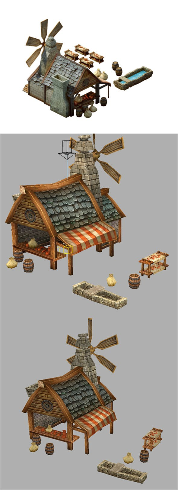 Game Model Arena - Bakery 01 - 3DOcean Item for Sale