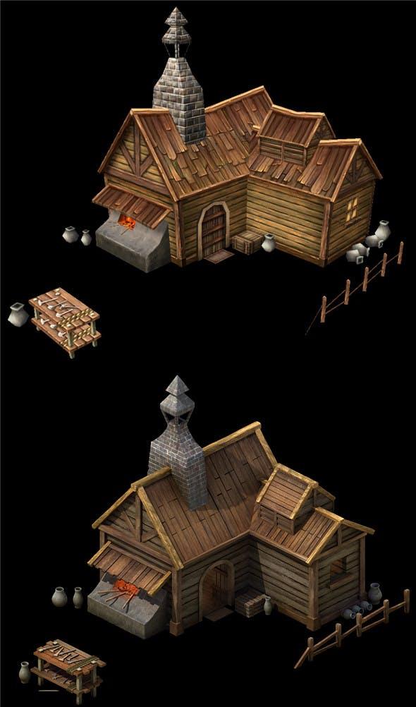 Game Model Arena - candle workshop 01 01 - 3DOcean Item for Sale