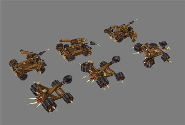 Game Model Arena - Catapult 01 - 3DOcean Item for Sale