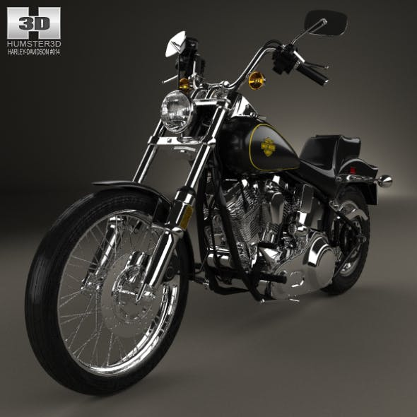 Harley-Davidson FXST Softail 1984 - 3DOcean Item for Sale
