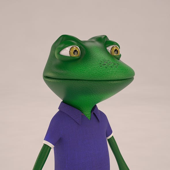 Toon Froggy Character (Mesh)