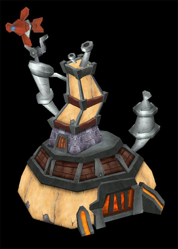 Game Model Arena - Dwarf House 01 - 3DOcean Item for Sale