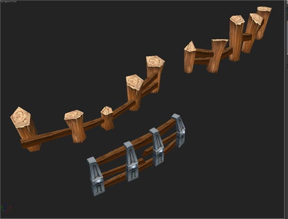 Game Model Arena - Fence 0011 01 - 3DOcean Item for Sale
