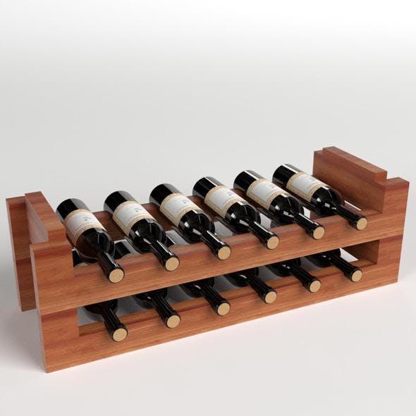 Wine Rack - 3DOcean Item for Sale