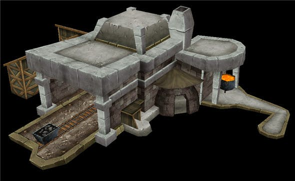 Game Model Arena - iron ore field 02 01 - 3DOcean Item for Sale