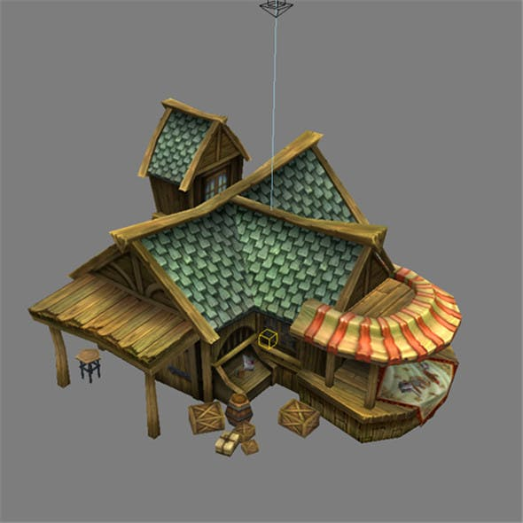 Game Model Arena - jewelry house 01 - 3DOcean Item for Sale