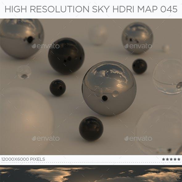 High Resolution Sky HDRi Map 045