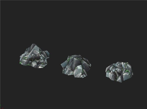 Game Model Arena - rubble 01 - 3DOcean Item for Sale