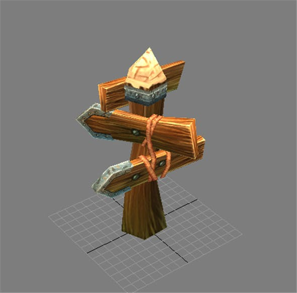 Game Model Arena - signs 01 - 3DOcean Item for Sale