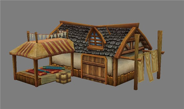 Game Model Arena - silk shop 01 01 - 3DOcean Item for Sale