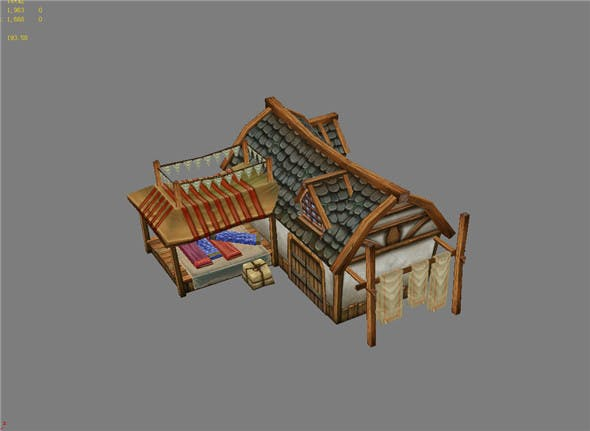 Game Model Arena - silk shop 02 01 - 3DOcean Item for Sale