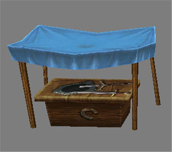Game Model Arena - stall 001 01 - 3DOcean Item for Sale
