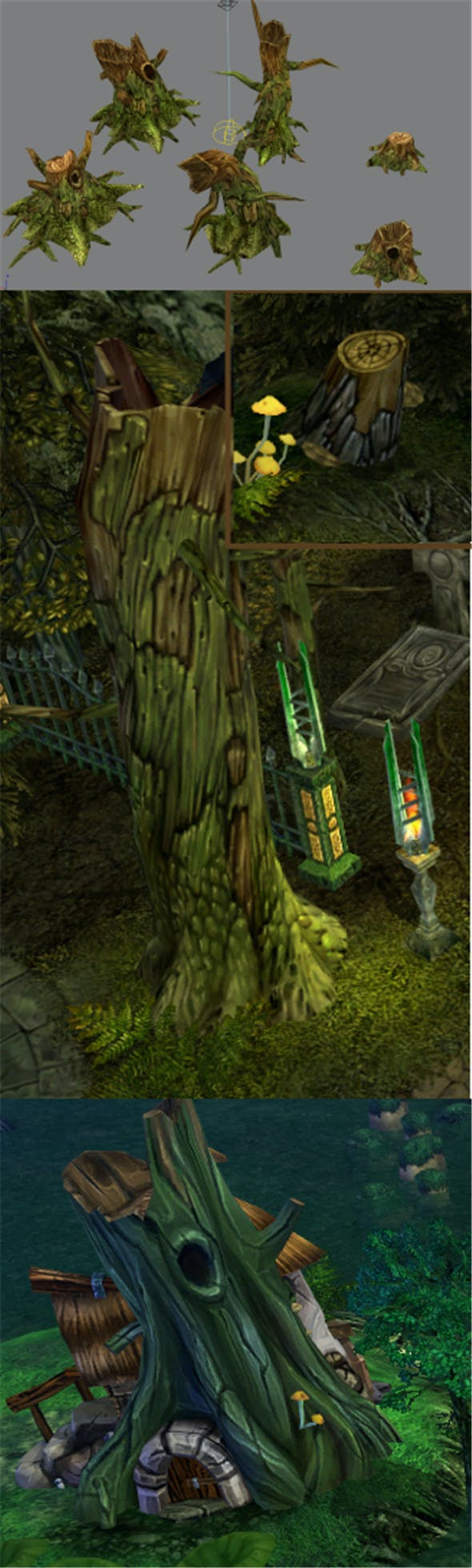 Game Model Arena - stump 01 - 3DOcean Item for Sale