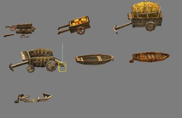 Game Model Arena - Transportation 01 - 3DOcean Item for Sale