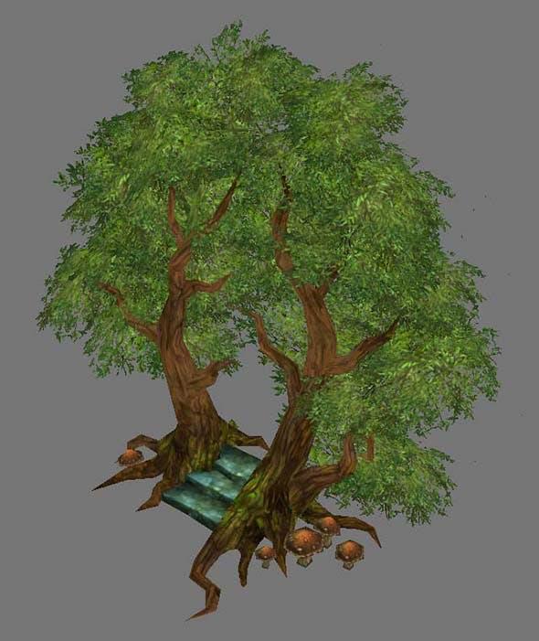 Game Model Arena - Tree City Portal 01 - 3DOcean Item for Sale