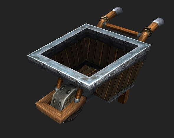 Game Model Arena - trolley  Dwarf  01 - 3DOcean Item for Sale