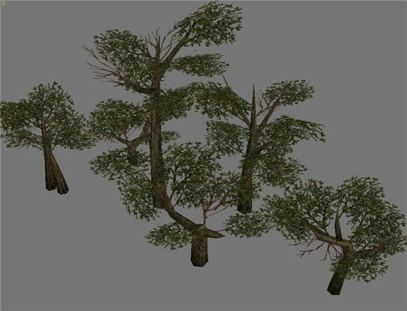 Game Model Arena - Variation grass flowers trees 07 01 - 3DOcean Item for Sale
