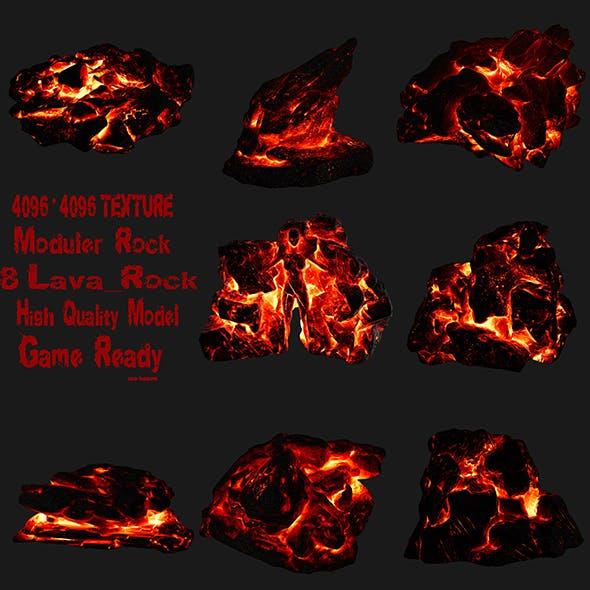 lava rock set