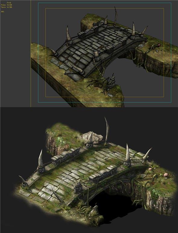 Game Models - poison Valley Scene - Bridgestone 01 - 3DOcean Item for Sale