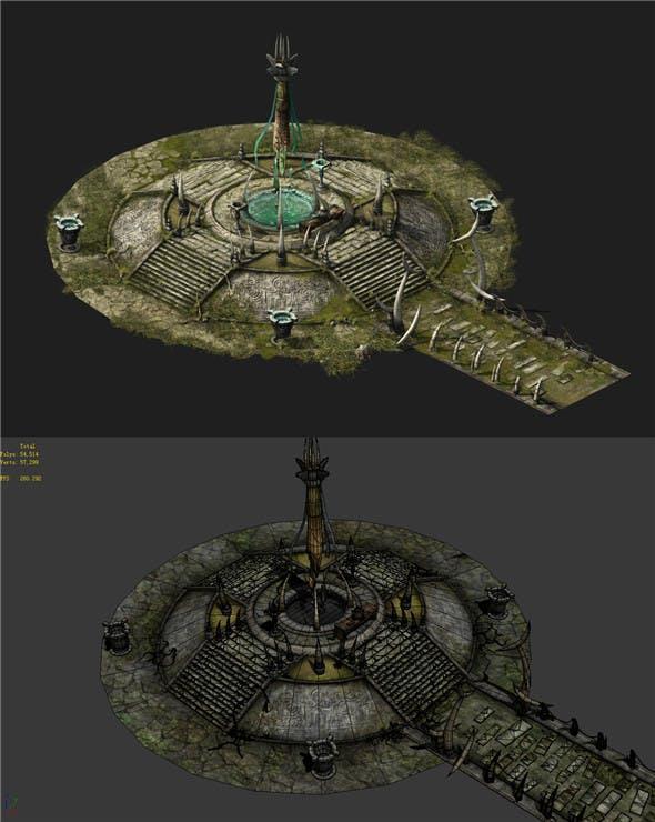 Game Models - poison Valley Scene - Duwang altar 01 - 3DOcean Item for Sale