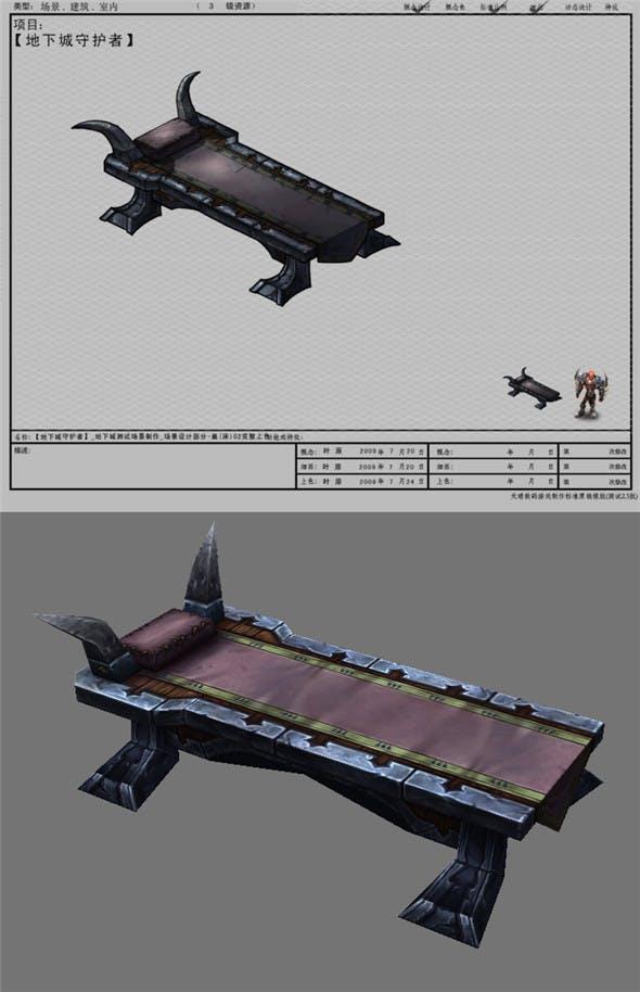 Arena game model test scenarios - nest bed -01  201 - 3DOcean Item for Sale