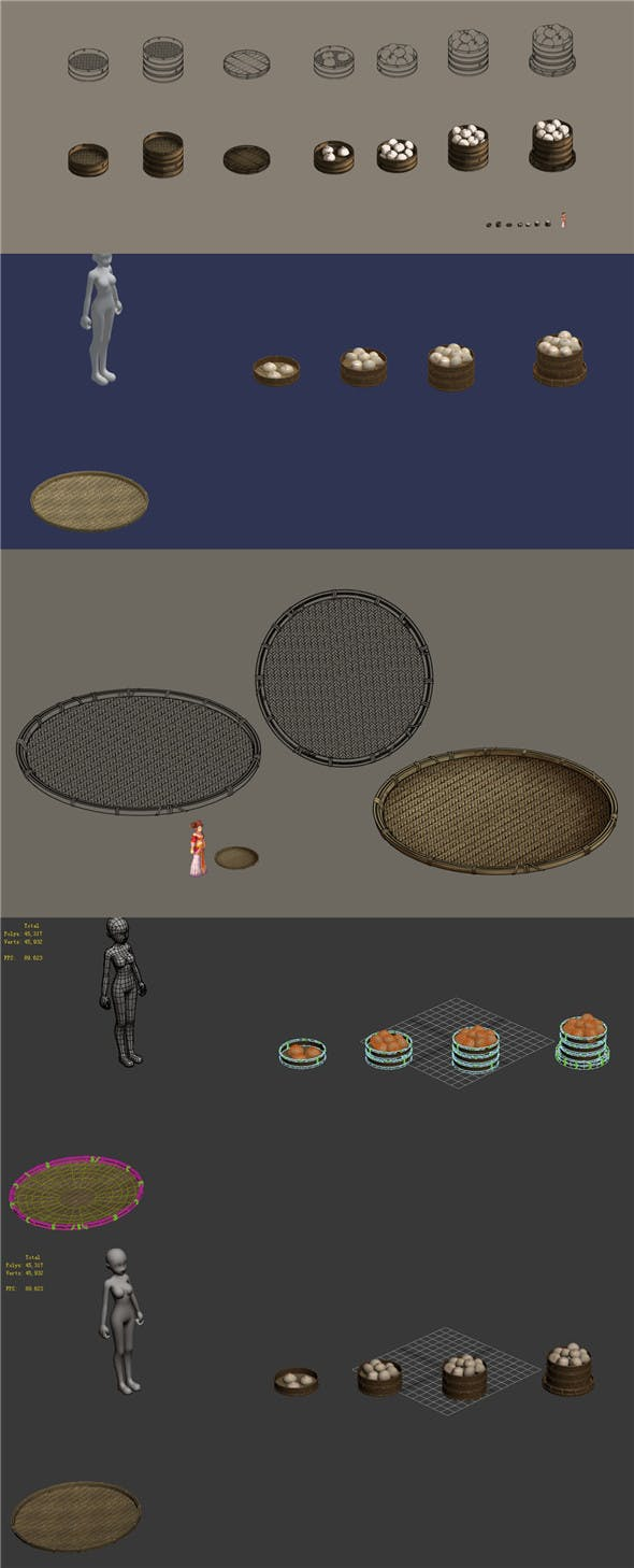 Buns - dustpan - 3DOcean Item for Sale