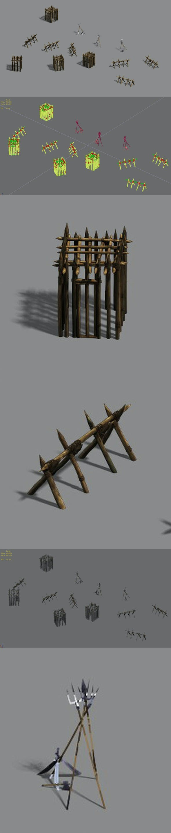 Barracks - Barn - Cage - Weapon Rack - 3DOcean Item for Sale