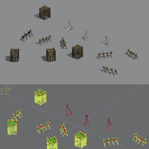 Barracks - Barn - Cage - Weapon Rack