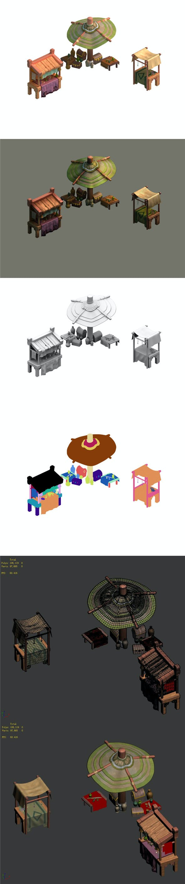 City - small business hawkers - 3DOcean Item for Sale
