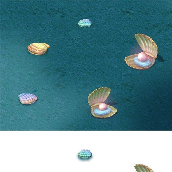 Submarine cartoon world - shells