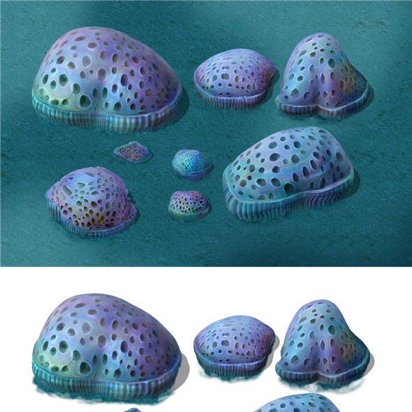 Submarine Cartoon World - Cellular Coral