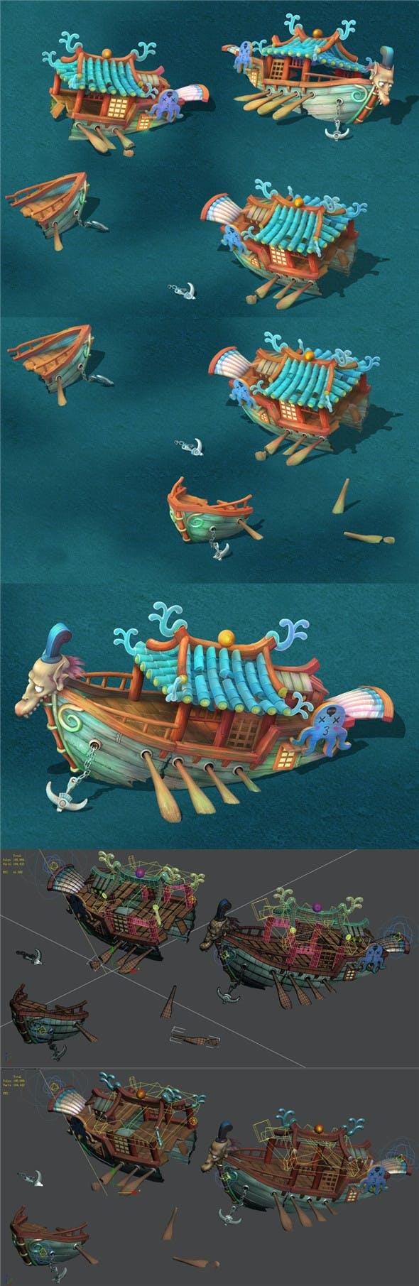 Submarine Cartoon World - Princess Shipwreck - 3DOcean Item for Sale