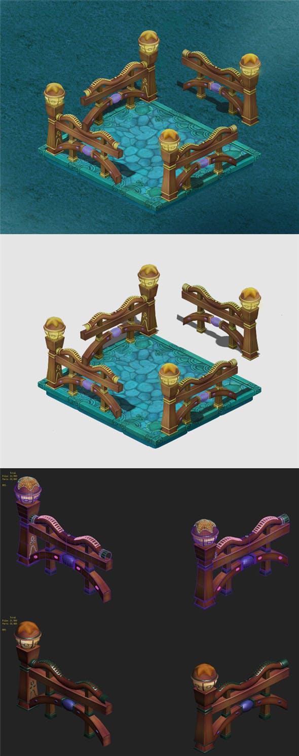 Submarine cartoon world - square railing - 3DOcean Item for Sale