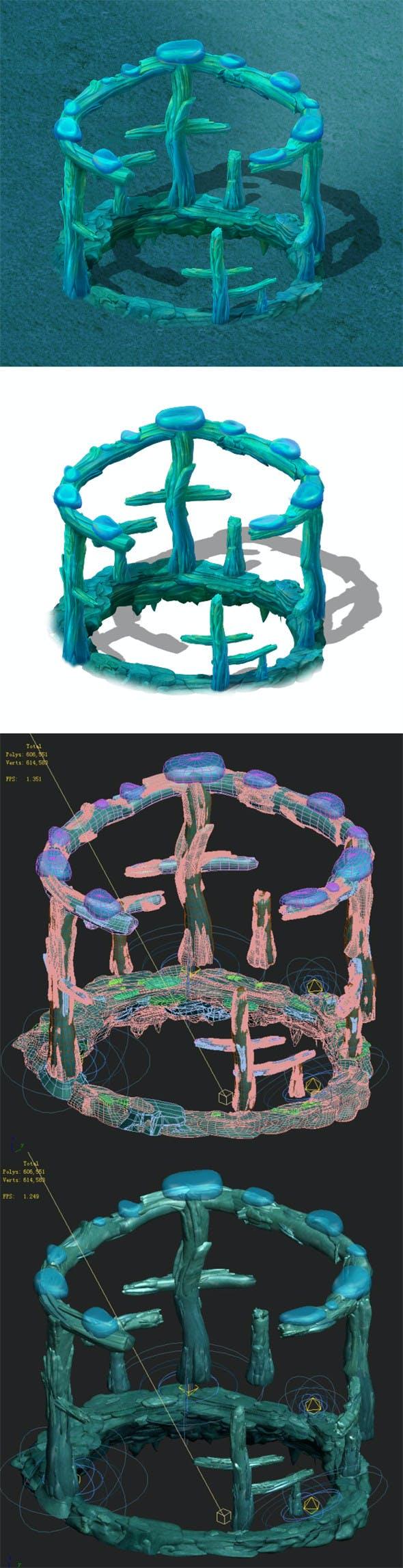 Submarine cartoon world - subsea ladder garden spare parts - 3DOcean Item for Sale