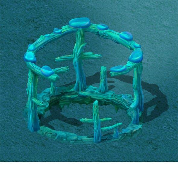 Submarine cartoon world - subsea ladder garden spare parts