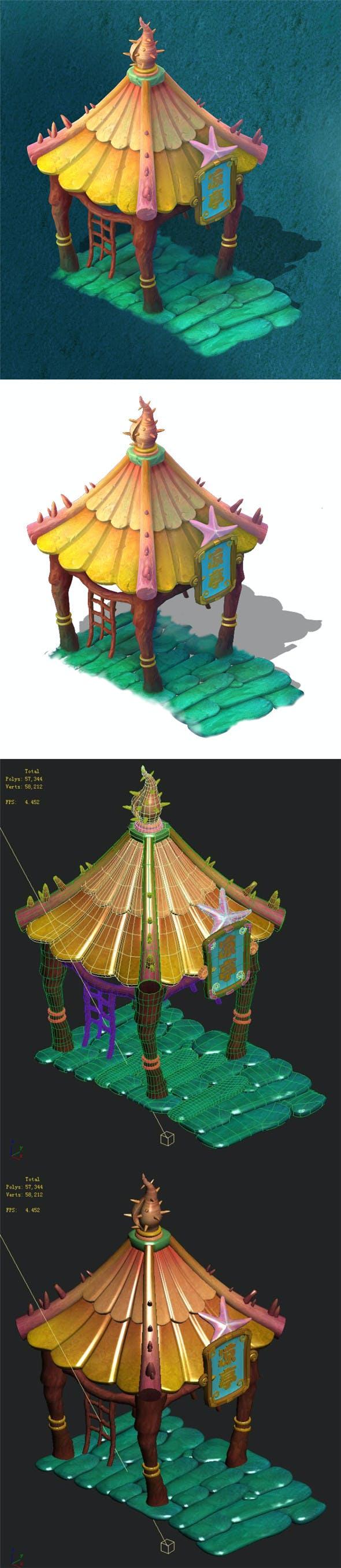 Submarine cartoon world - sea bottom pavilion - 3DOcean Item for Sale