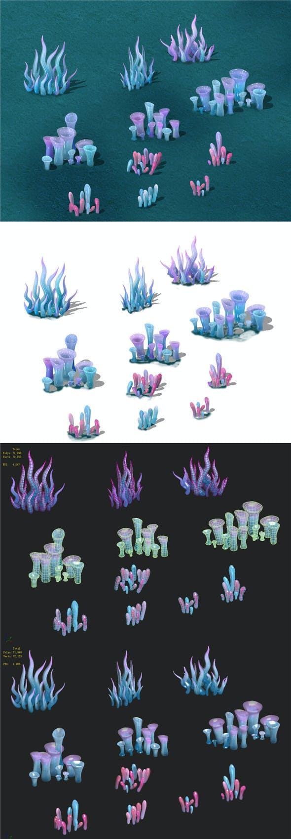 Submarine cartoon world - submarine decoration - 3DOcean Item for Sale