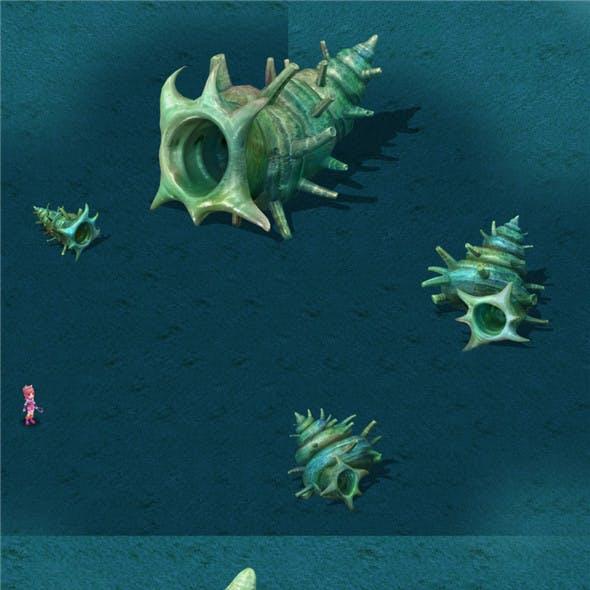 Submarine Cartoon World - Sea King conch