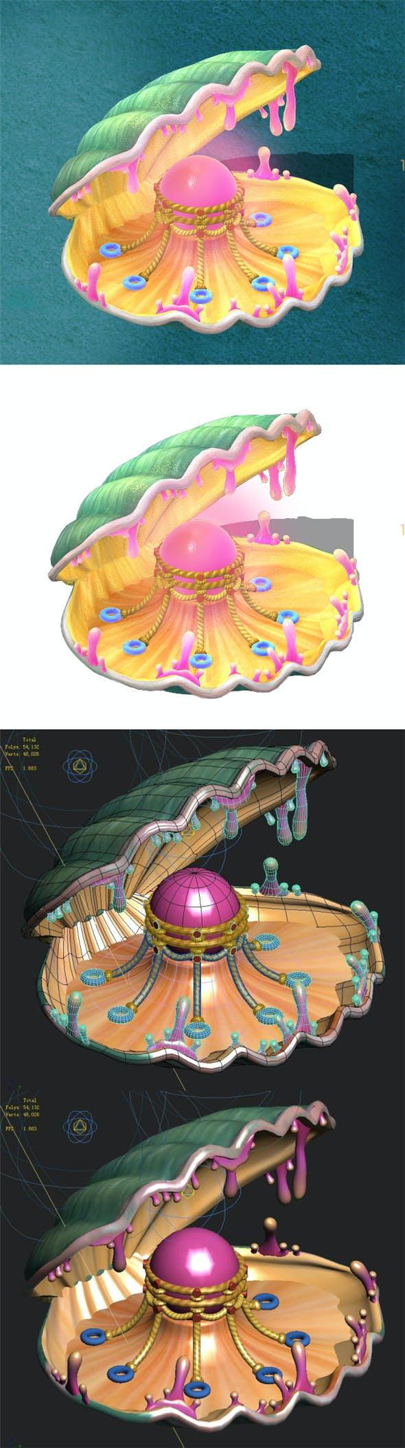 Submarine cartoon world - huge pearl shellfish - 3DOcean Item for Sale