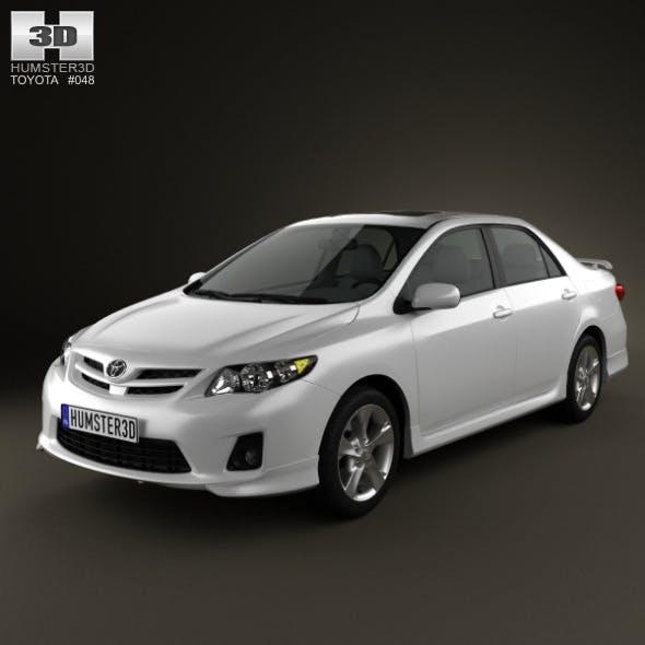 Toyota Corolla 2012 - 3DOcean Item for Sale