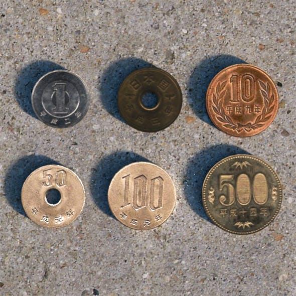 Japanese Yen Coins Set - 3DOcean Item for Sale