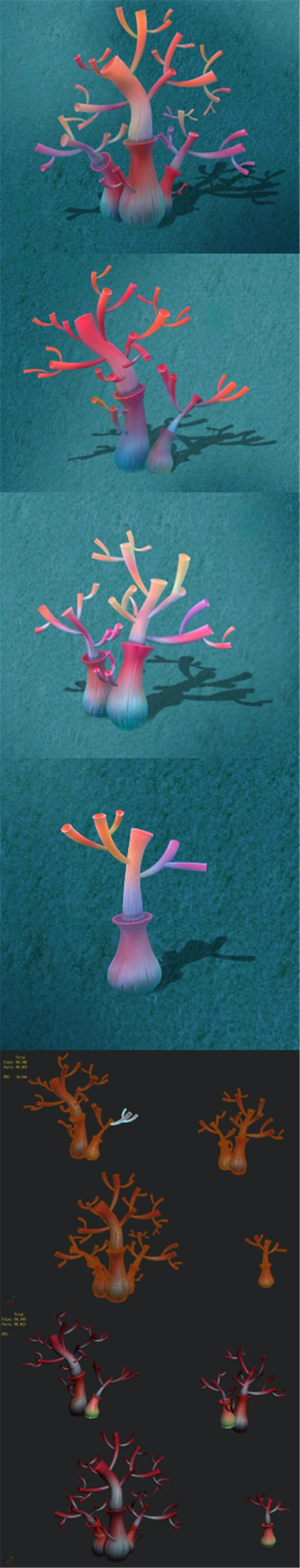 Submarine cartoon world - water coral tree - 3DOcean Item for Sale