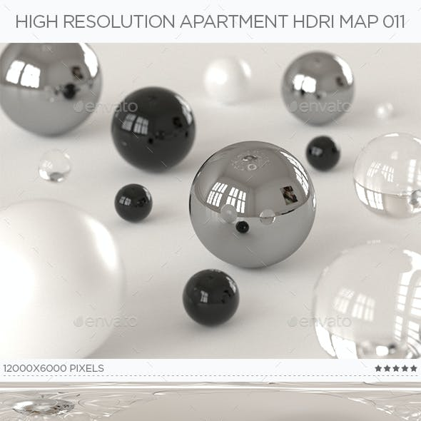 High Resolution Apartment HDRi Map 011