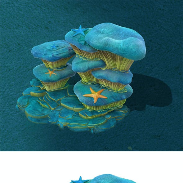 Submarine cartoon world - dream summer cave wall