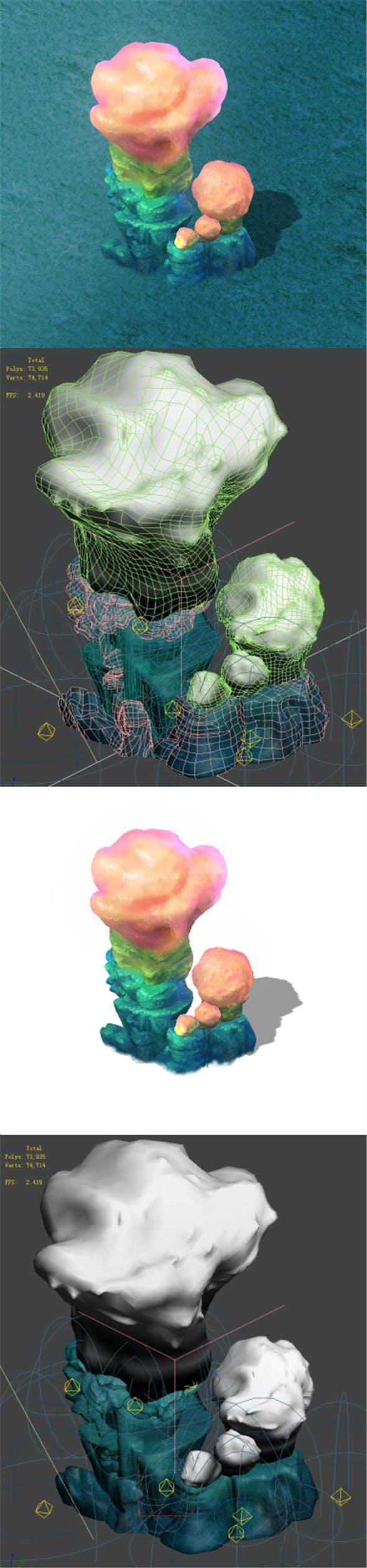 Submarine Cartoon World - Sarcoma Coral 02 - 3DOcean Item for Sale