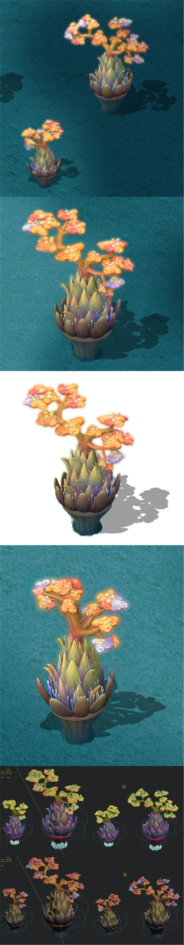 Submarine Cartoon World - Coral Salad Tree - 3DOcean Item for Sale